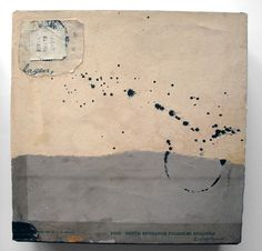 Crystal Neubauer Original OOAK Fine Art 6 x 6 Cube Collage Mixed Media - Fishers of Men