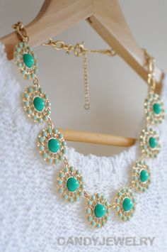 Green and mint bubble necklace