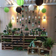 Lanternas e plantas