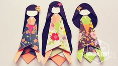 Cómo hacer Muñeca de Papel Japonesa // Japanese Paper Doll [DIY]