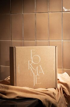 Graphic and corporate identity for the brand, Formaje, Madrid. – A point of sale and encounter promoting the excellence of artisan cheese, by the hands of Clara Díez y Adrián Pellejo. #branding #brandidentity #packaging #graphcidesign #packagingdesign Packaging Box, Candle Packaging, Brand Packaging, Graphic Design Typography, Graphic Design Studios, Branding Design, Branding Your Business, Corporate Identity, Brand Identity