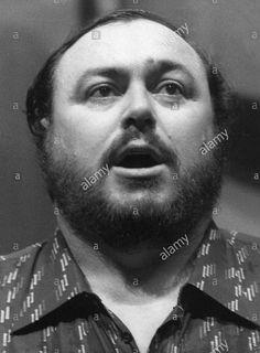 Luciano Pavarotti portrait 1981.