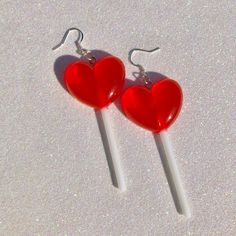 Lollipop candy earrings Resin charms Silver plated earrings hooks Allow business days to process and business days to ship Weird Jewelry, Funky Jewelry, Cute Jewelry, Jewelry Accessories, Jewlery, Funky Earrings, Diy Earrings, Accesorios Casual, Resin Charms
