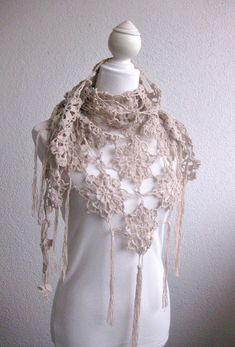 Crochet+Shawl+Patterns+for+Beginners | PDF CROCHET PATTERN, pattern for scarf, shawl, Beige, Crochet Scarf ...