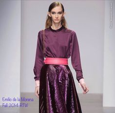 Emilio de la Morena - Fall Fashion 2014 RTW collection. A beautiful outfit for the young, modern woman.