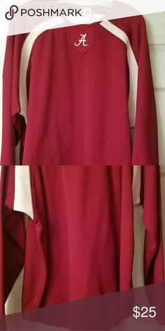 AL Long Sleeve Shirt Roll Tide!  Warm sweater to represent U of A!!!  100% Polyester; Heavier than a long sleeve T-shirt, but lighter than a sweatshirt.  EUC Shirts Sweatshirts & Hoodies