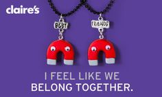 Happy Best Friends Day from Claire's! this is what my bestie becca and I need lol we totally belong together.