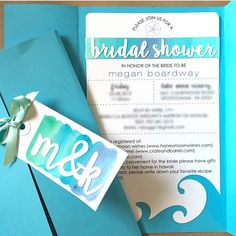 DIY Bridal Shower invitations cut with the Silhouette
