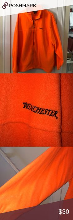 Winchester orange hunting jacket Very nice orange hunting jacket size XXXL in excellent condition. 100# polyester winchester Jackets & Coats Military & Field
