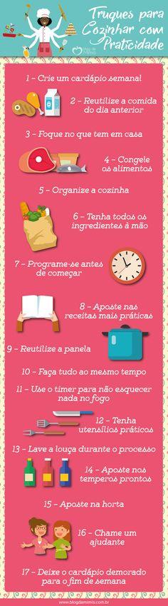 Truques para cozinhar com praticidade - Blog da Mimis - #cozinharápida #cozinha #rápida #cooking #truques #dicas #praticidade #practicality #fastfood #diet