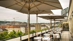 George opened in 2014 in a chic attic apartment on Sihlstrasse. Thanks to its location on the floor of Haus Ober, above the casino, the restaurant-cum-bar e Zurich, Lakeview Restaurant, Grill Bar, Restaurants, Rooftop Terrace, Pent House, How To Level Ground, Lake View, Beautiful Gardens