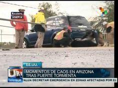 EE.UU.: fuerte tormenta provoca inundaciones en Arizona