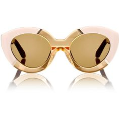 Karen Walker Poolside Flowerpatch Sunglasses ($250) ❤ liked on Polyvore featuring accessories, eyewear, sunglasses, multi, karen walker, cateye glasses, cat eye glasses, lens glasses and karen walker glasses