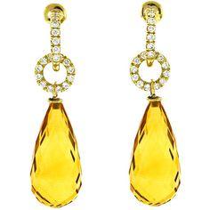 Rosamaria G Frangini   High Yellow Jewellery   Donna Vock - Citrine Diamond Daytime Drop Earrings