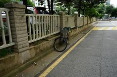 an abandoned bicycle of seoul