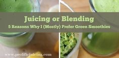 Juicing vs Blending: 5 Reasons Why I (Mostly) Prefer Green Smoothies Green Smoothie Recipes, Yummy Smoothies, Green Smoothies, Juice Smoothie, Juicing, Get Healthy, Veggies, Vegan, Dishes