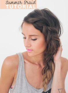 Side+messy+French+braid