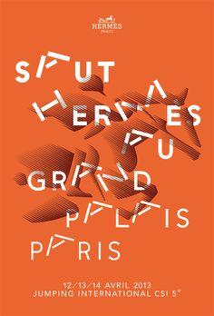 Les Arts Décoratifs - Site officiel - Diaporama - Affiche pour « Le Saut Hermès au Grand Palais Design, Jumping International CSI 5 », Paris...