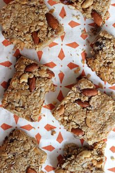 These coconut-almond energy bars are easy to make and they'll fill you up for hours. Such a great snack to have on hand.
