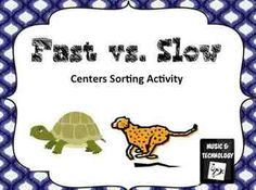 Fast vs. Slow Centers Activity- an activity where students sort pictures under the correct categories (fast or slow)