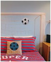 Football bedding set - Girls soccer bedroom ideas--Love Pillow!
