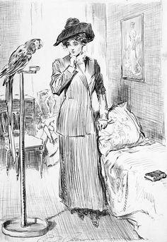 1911 Drawing By Charles Dana Gibson Photograph  - 1911 Drawing By Charles Dana Gibson Fine Art Print