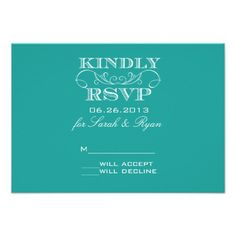 DealsElegant Turquoise RSVP Card Custom Invitetoday price drop and special promotion. Get The best buy