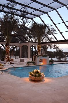 Screened-in Pool Design Ideas, Pictures, Remodel, and Decor - page 6