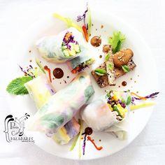 Paladares {Sabores de nati }: Rollos primavera - Gỏi cuốn con salsa de maní [Vietnam], Spring rolls