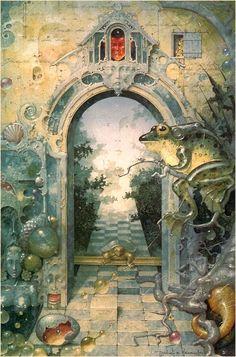 """Whole in the Theory"" ~ Daniel Merriam ~ Watercolorist Extraordinaire ~ Miks' Pics ""Daniel Merriam l"" board @ http://www.pinterest.com/msmgish/daniel-merriam-l/"