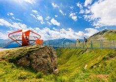 Stubnerkogel, Gastein: Suspension bridge in the Gastein