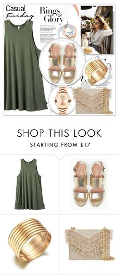 """Rings of glory"" by maiah-bee ❤ liked on Polyvore featuring RVCA, Tiffany & Co., Whiteley, Max&Co., Cynthia Rowley and Movado"