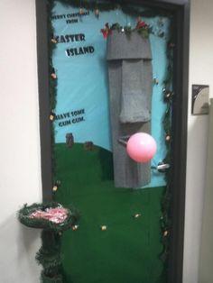 Easter Island Bubble Gum Door