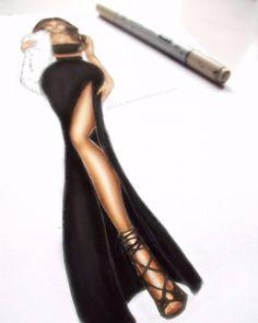 Progress  #fashionillustration #fur #fashiondoodles #fashionillustrations…