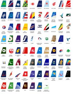 A collection of airline airplane tails designs  for many airlines around the world. As they say, aircraft tail fins here we come.