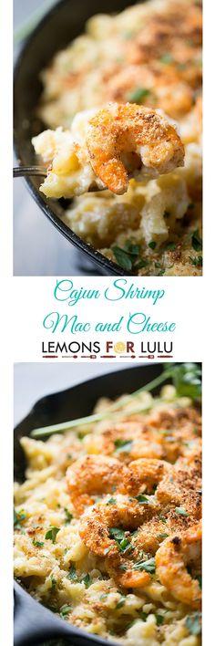 Cajun Shrimp Mac and Cheese - Lemons for Lulu - Food and Recipe Blog