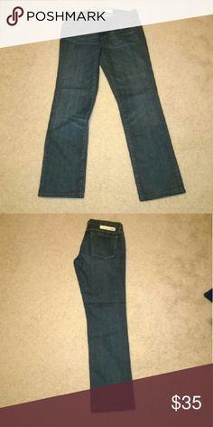 Earnest Sewn Am I straight cut jeans Hemmed after I bought them to 30.5 in inseam. Worn fewer than 10 times. Earnest Sewn Jeans Straight Leg