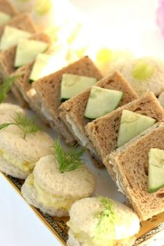 Tea sandwiches are always nice to have for visitations or wakes.