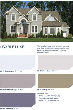 Get a refined, relaxed and elegance contrasted look with the HGTV HOME™ by Sherwin-Williams Livable Luxe Collection.