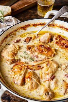 Chicken Casserole, Casserole Recipes, Chicken Enchiladas, Dutch Oven Recipes, French Chicken Recipes, Chicken Quarter Recipes, Dutch Oven Chicken, Roast Chicken Recipes, French Dishes