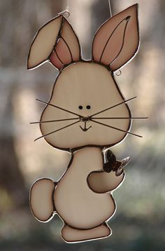 Here Comes Peter Cottontail by theglassmenagerie on Etsy