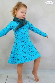 Schnittmuster Jerseykleid Lillith 74-110 von Zwergnase-Design als e-book für Mädchen, Babies in Kategorie Kleid 74 – 110