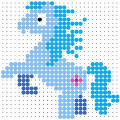 Little Pony - Cool Perler Bead Patterns, http://hative.com/cool-perler-bead-patterns/,
