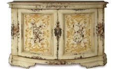 BUFFET PARMA ANTIQUE FRENCH WHITE & SCROLLS - Furniture, Finds & More