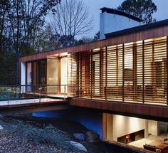 Modernes Holzhaus Fertighaus-Fassadenelemente