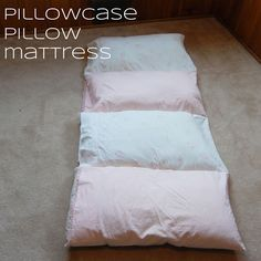 createinspiremotivate: Pillowcase Pillow Mattress