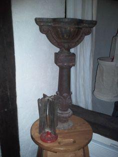 DéCo ancienne...ornement sculpture travaillé en fer forgé...plantes...bougies...déco ancienne