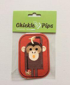 Strijkapplicatie met aapje, om je broek of t-shirt mee te pimpen.