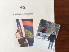 clever update > paste family photos to a marimekko catalog to make the spread personalized and frameable in your own home.