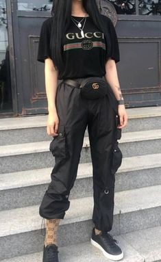 Gucci Outfits, Kpop Fashion Outfits, Edgy Outfits, Korean Outfits, Retro Outfits, Grunge Outfits, Outfits For Teens, Cool Outfits, Korean Girl Fashion